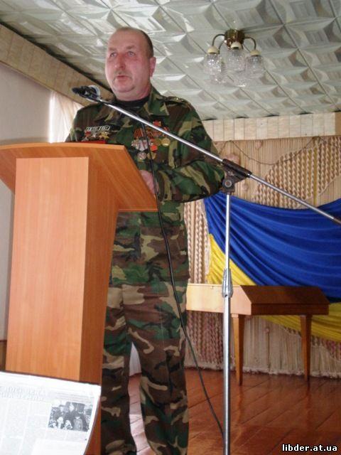 Голова районної організації ветеранів Афганістану Маньківський С.
